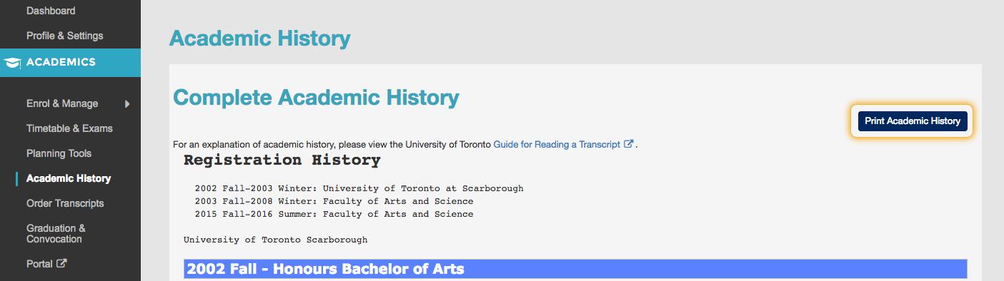 print-academic-history
