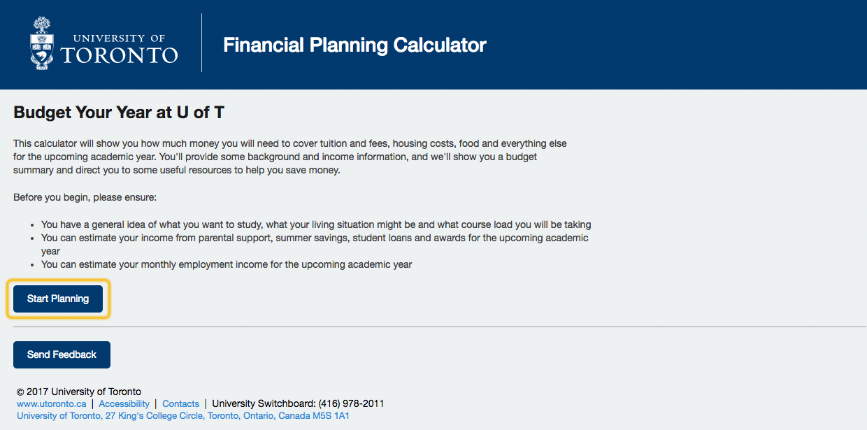 how do i use the financial planning calculator acorn help